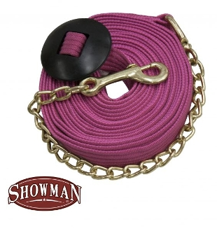 "25' Flat Nylon Web Lunge Line with  14"" Brass Chain"