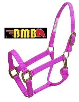 BMB Premium halter with brass plated hardware - LARGE HORSE SIZE