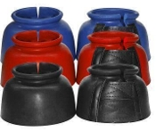 Rubber Bell Boots - Double Velcro Closure - Medium Size Set of 2