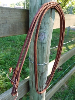 Leather Reins with Water Loop Ends - 8' Long