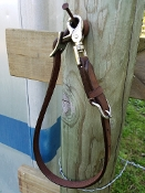 "Leather wither strap with scissor snap end - Adjusts 29"" to 23"""