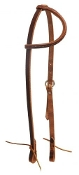 American made oiled harness leather sliding one ear headstall